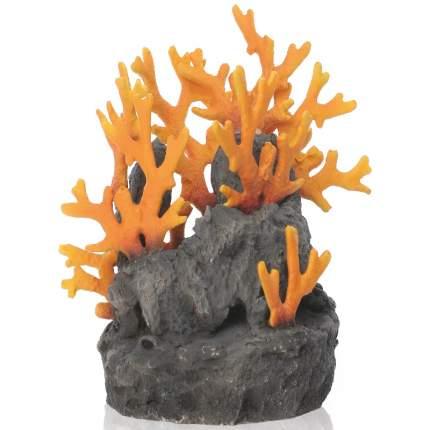 Декорация для аквариума biOrb Lava rock, застывшая лава с огненным коралом, 19х15х18см