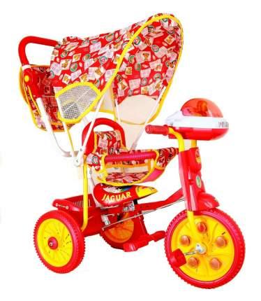 Детский трехколесный велосипед Jaguar красный