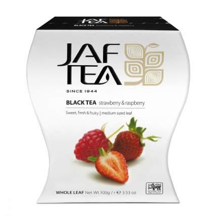 Чай Jaf Tea Strawberry & Raspberry черный листовой с добавками 100 г