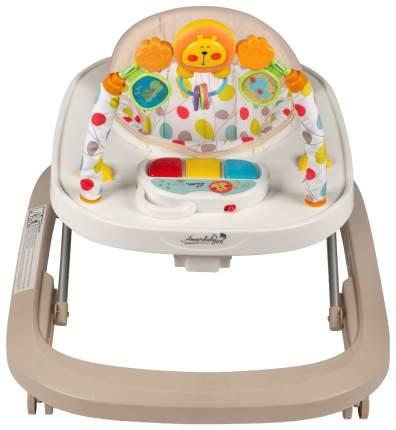 Ходунки детские с электронной игровой панелью AmaroBaby Walking Baby Beige