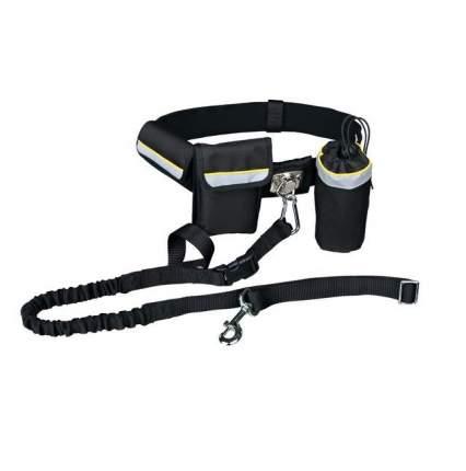 Ремень поясной с поводком для собак TRIXIE, черный, до 40 кг,