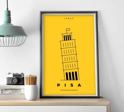 Постер Желтая Пиза 40х50 в тубусе