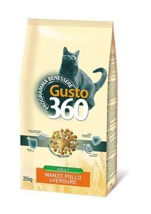 Сухой корм Gusto 360 для кошек (20 кг, Говядина с курицей)