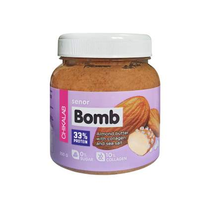 Паста миндальная с морской солью Bombbar CHIKALAB Senor BOMB, 250 г