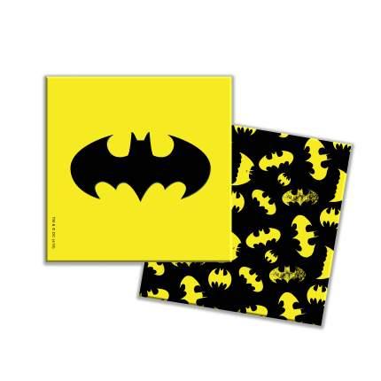 Салфетки Batman бумажные трехслойные желтые 33*33 см 12 штук