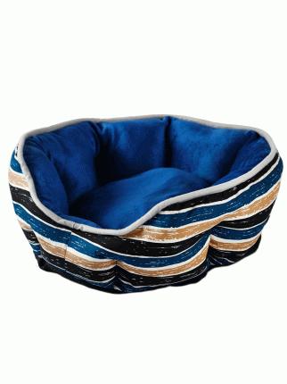 Лежанка для домашних животных Не Один Дома Комфорт, синяя, M, 57х52х14 см