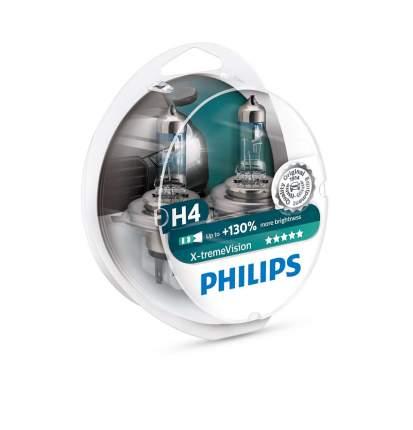 H4 X-Treme Vision  130% 12v 60/55w Лампа В Блистере 2шт Philips арт. 12342XV S2