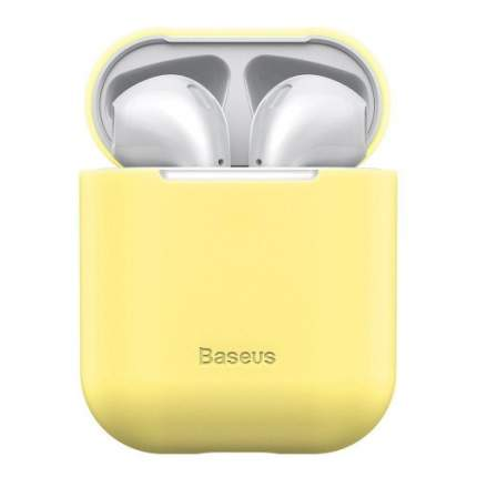 Чехол Baseus Ultrathin Series Silica Gel Protector для Apple AirPods 1,2 Yellow