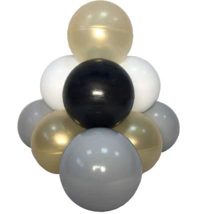 Комплект шариков Золотой песок (100шт: золот, белый, черн, серый) для сухого бассейна