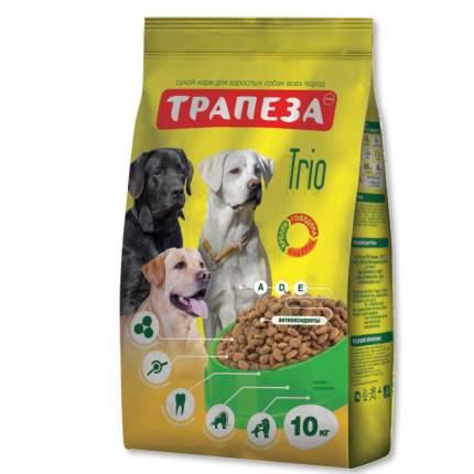 Сухой корм для собак Трапеза Трио, все породы, говядина, индейка, кролик, 10кг