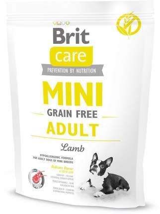 Сухой корм для собак Brit Care Mini Grain Free Adult, для мелких пород, ягненок, 0,4кг