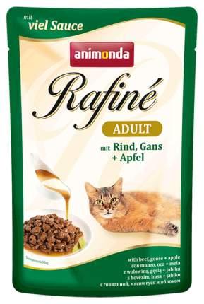 Влажный корм для кошек Animonda Rafine Adult, говядина, домашняя птица, 24шт, 100г