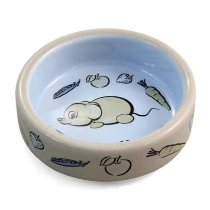 Одинарная миска для грызунов Triol Мышонок, керамика, разноцветный, 0.1 л