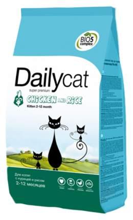 Сухой корм для котят Dailycat Kitten, курица с рисом, 1,5кг