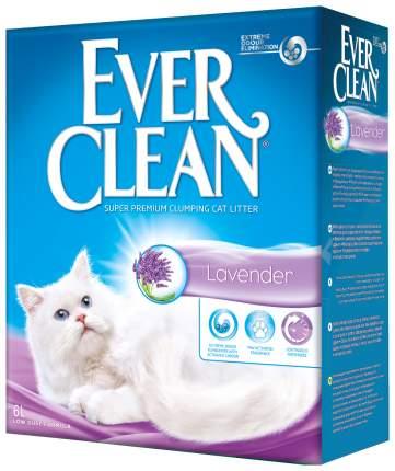 Комкующийся наполнитель для кошек Ever Clean Lavender глиняный, лаванда, 6 кг, 6 л