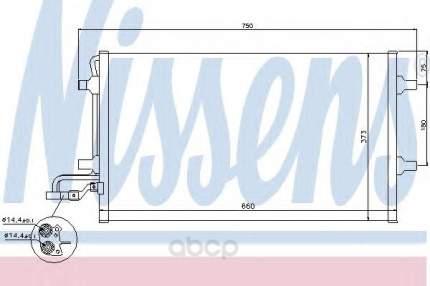 Радиатор кондиционера Nissens 940086