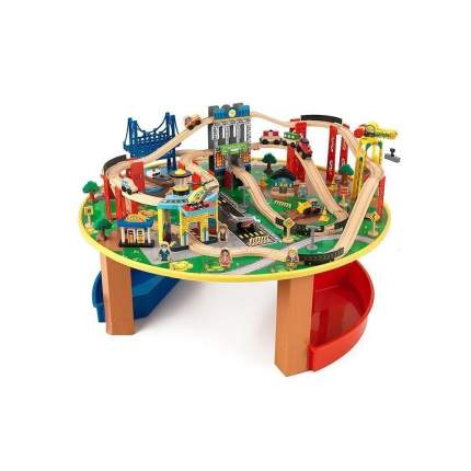 Деревянная железная дорога KidKraft наш город 80 элементов со столом