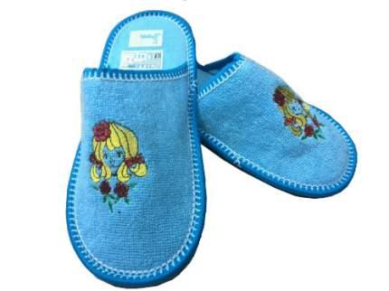 Тапочки Рапана детям голубые Девочка 34 размер