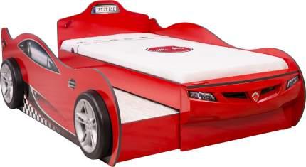 Кровать-машина Cilek Carbed Coupe выдвижнаякрасная 90х190/90х180