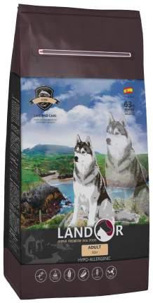Сухой корм для собак Landor Adult, все породы, рыба и рис, 15кг