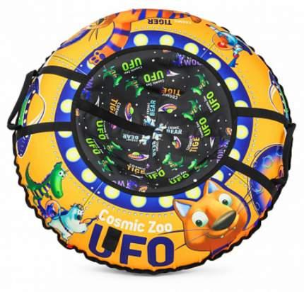 Надувные санки-ватрушка (тюбинг) Small Rider UFO (CZ) (оранжевый тигренок)