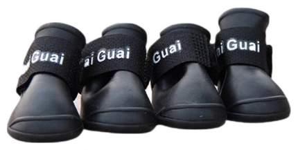 Обувь для собак Грызлик Ам размер S, 4 шт черный