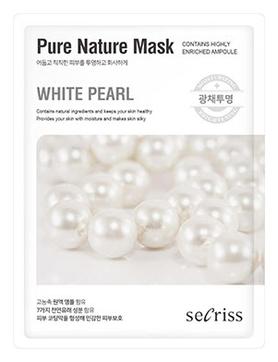 Маска для лица тканевая Secriss Pure Nature Mask Pack- White pearl 25мл