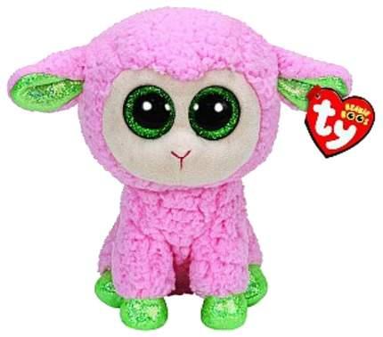 Мягкая игрушка Ty Inc Овечка Beanie Boo's (розовая с зелеными копытцами), 23 см