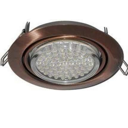 Ecola Gx53-Ft9073 Светильник Встраиваемый Поворотный Черная Медь 40X120 Fp5390Ecb