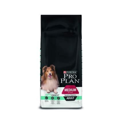 Сухой корм для собак PRO PLAN OptiDigest Medium Adult, для средних пород, ягненок, 18кг