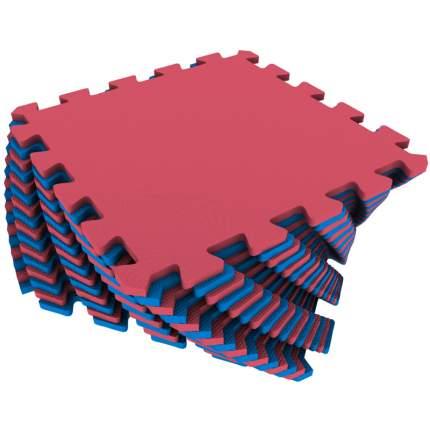 Развивающий коврик Eco Cover 25*25 см красно-синий