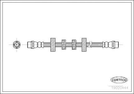 Шланг тормозной CORTECO 19020444