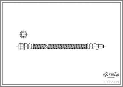 Шланг тормозной CORTECO 19035149