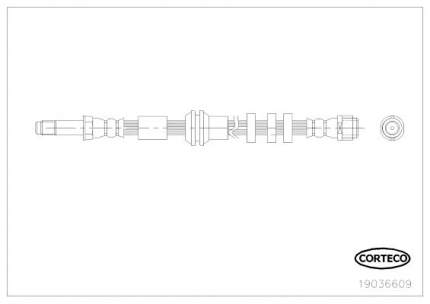 Шланг тормозной CORTECO 19036609