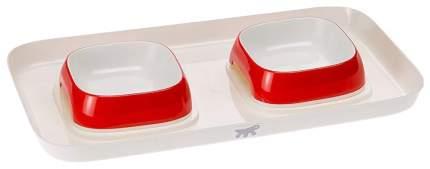 Поднос с мисками Ferplast Glam Tray для животных (400 мл, Красный)