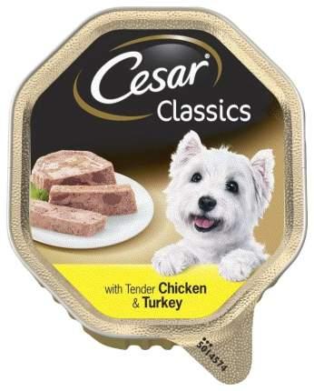 Консервы для собак Cesar, с нежной курицей и индейкой, 150г