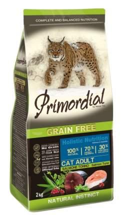 Сухой корм для кошек Primordial Natural instinct, беззерновой, лосось, тунец, 6кг