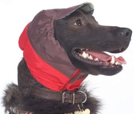 Шапка для собак ТУЗИК размер унисекс, красный, длина спины см