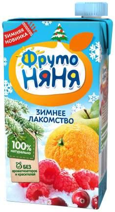 Нектар ФрутоНяня Зимнее лакомство из яблок, апельсинов, клюквы и малины с 3 лет 500 мл