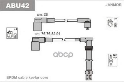 Комплект проводов зажигания JANMOR ABU42