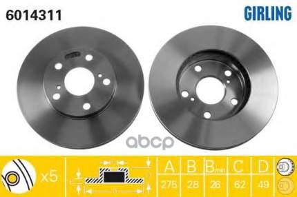 Тормозной диск GIRLING 6014311