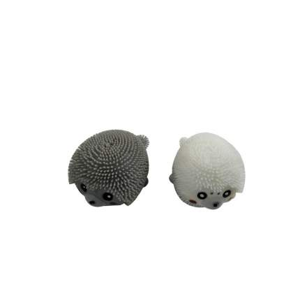 1 TOY Игрушка-антистресс Нью-Ежики. Тюлень, серый/белый Т11992