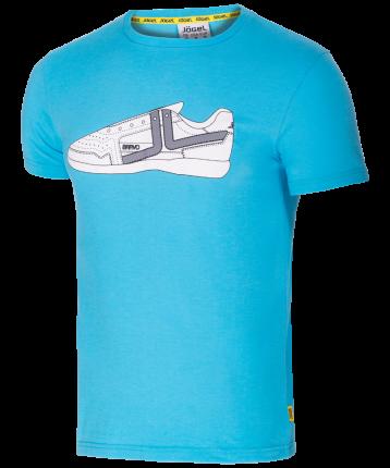 Футболка мужская Jogel JCT-5202-071, синие/белые, S INT