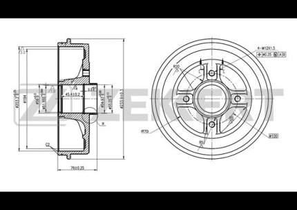 Тормозной барабан ZEKKERT BS-5110