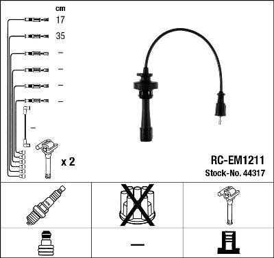 Комплект проводов зажигания NGK 44317