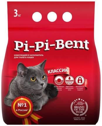Комкующийся наполнитель туалета для кошек Pi-Pi-Bent, 3 кг