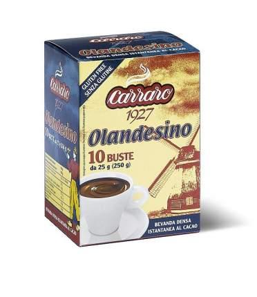 Растворимый какао  Carraro сacao olandesino в саше 25 г х 10