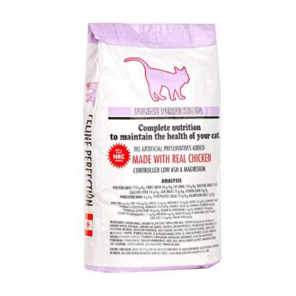 Сухой корм для кошек Feline Perfection, профилактика МКБ, курица, 0,4кг