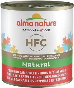 Консервы для кошек Almo Nature HFC Natural, курица и креветки, 280г
