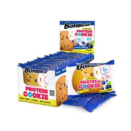 Печенье неглазированное Bombbar 40гр (коробка 12 шт.), Смородина-черника